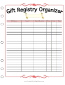 Wedding Planner Gift Registry Organizer