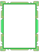 Green Abstract Page Border Templates