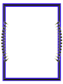 Blue And Black Page Border Templates