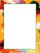 Bright Color Swirls Page Border Templates
