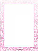 Lilac Ornaments Page Border Templates