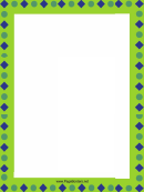 Circles And Squares Page Border Templates