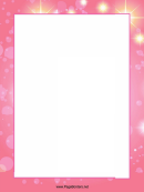 Pink Page Border Templates