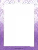 Purple Ornaments Page Border Templates