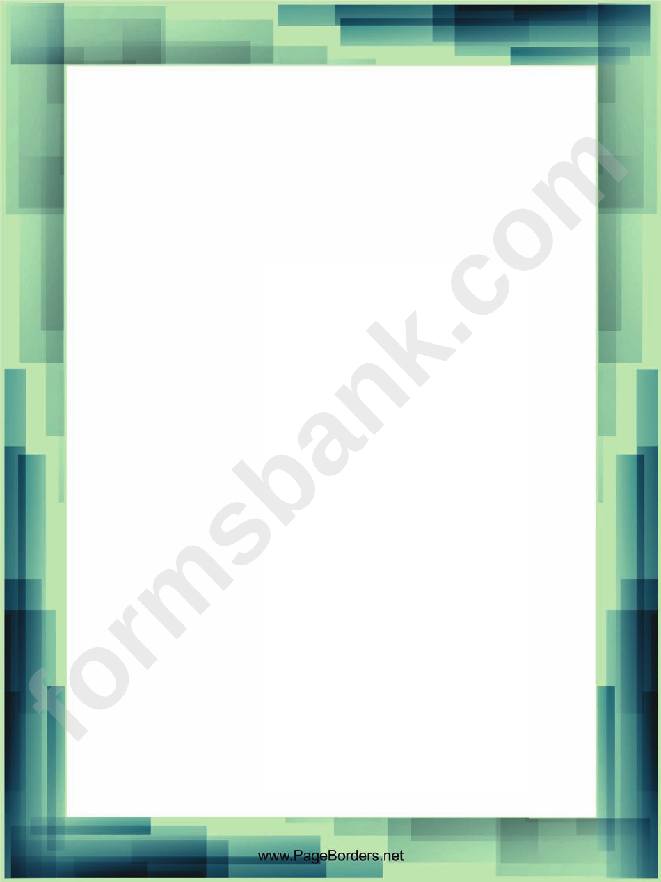 blue and green page border templates printable pdf download