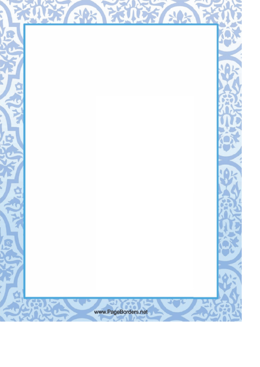 Ornamental Flowers Page Border Templates