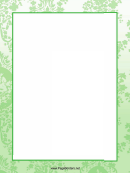 Green Page Border Templates