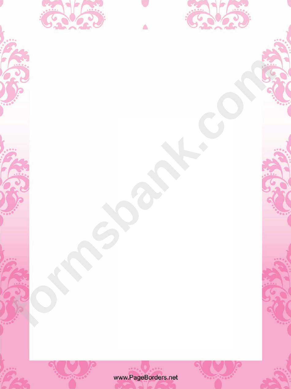 Pale Flowers Page Border Templates
