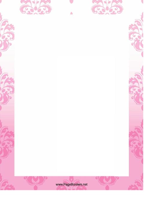 Pale Flowers Page Border Templates Printable pdf