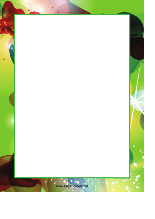 Blob Green Border Printable pdf