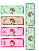 Mid-hundreds Mini Play Money Template