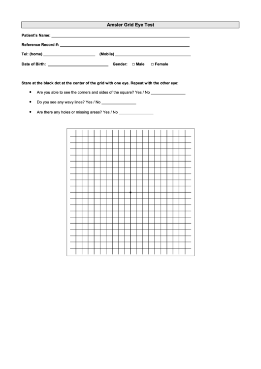 picture about Printable Amsler Grid titled Amsler Grid Eye Examine printable pdf down load