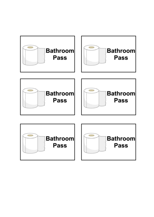 bathroom pass template