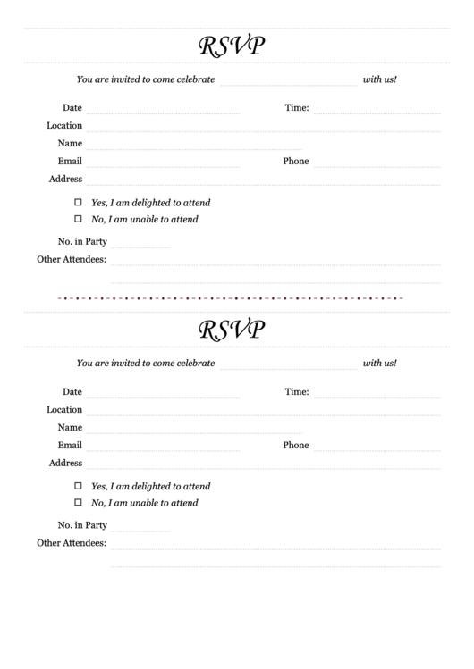 Individual Rsvp Form