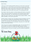 Easter Bunny Letter Template Answering Questions