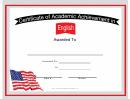 Usa English Language Certificate