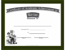 Military Science Academic Certificate