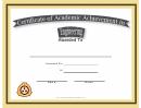 Engineering Academic Certificate