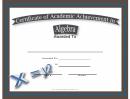 Algebra Academic Certificate