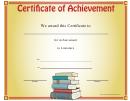 Literature Achievement Certificate Template