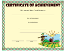 Agriculture Achievement Certificate Template