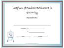 Drawing Academic Certificate