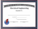 Electrical Engineering Academic Certificate