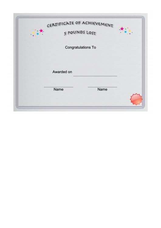 weight loss 5 pounds certificate printable pdf download