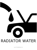 Radiator Water With Caption Sign