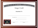 Stage Craft Academic Certificate