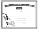 Zoology Academic Certificate