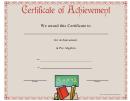 Pre-algebra Achievement Certificate (pink)