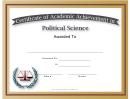 Political Science Academic Certificate