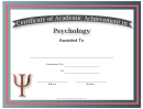 Psychology Academic Certificate