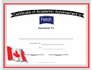 Canada French Language Certificate