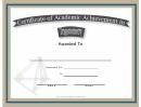 Trigonometry Academic Certificate