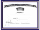 Calculus Academic Certificate