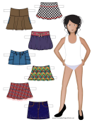 Paper Doll With Assorted Skirts