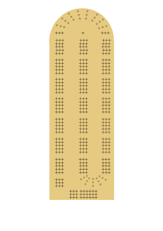 cribbage board template printable pdf download
