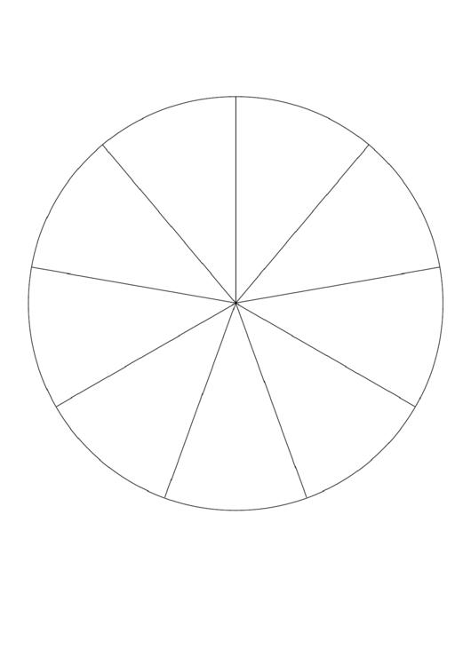Pie Chart Template - 9 Slices Printable pdf