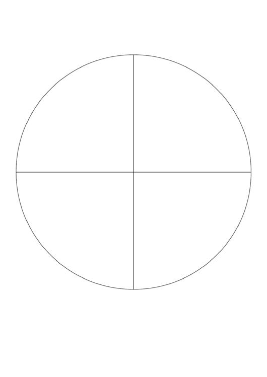 Pie Chart Template - 4 Slices Printable pdf