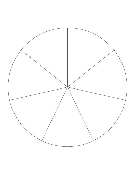 Pie Chart Template - 7 Slices Printable pdf