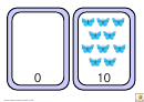 Number Bonds To 10 Easy Coloured Butterfly Match Template