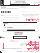 Form Dr-602g - Governmental Leasehold Intangible Personal Property Tax Application For Extension Of Time To File Return