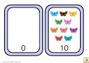 Number Bonds To 10 Coloured Butterfly Match Template