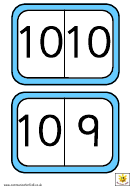 Numeral Dominoes To 10 Template