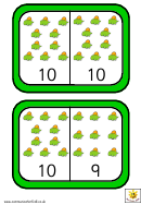 Dinosaur Dominoes To 10 Template