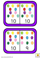 Balloon Dominoes To 10 Template