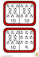 Football Dominoes To 10 Template