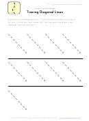 Tracing Diagonal Lines Worksheet Template